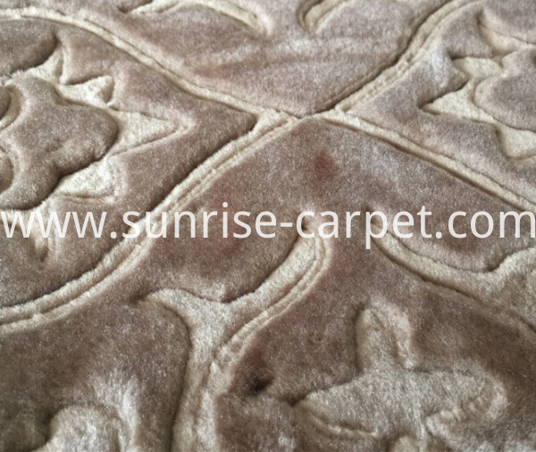 macro figure of embossing rug